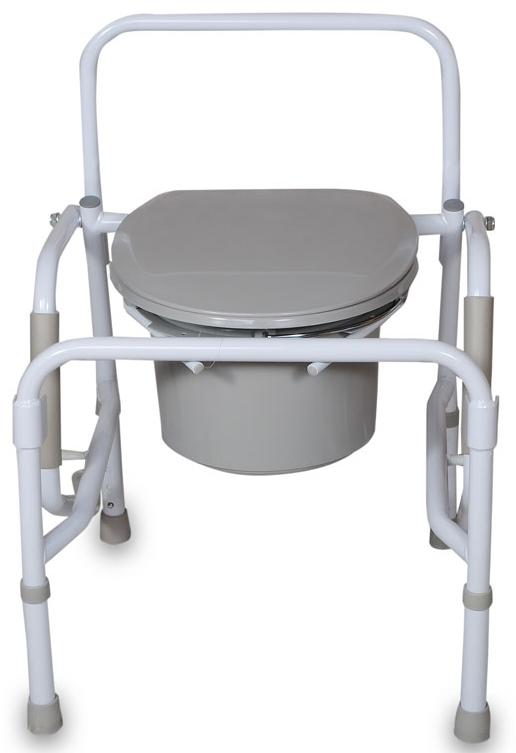 Amrus Кресло-туалет с опускающимися подлокотниками со спинкой, регулируемое по высоте AMCB6807 - Санитарные приспособления
