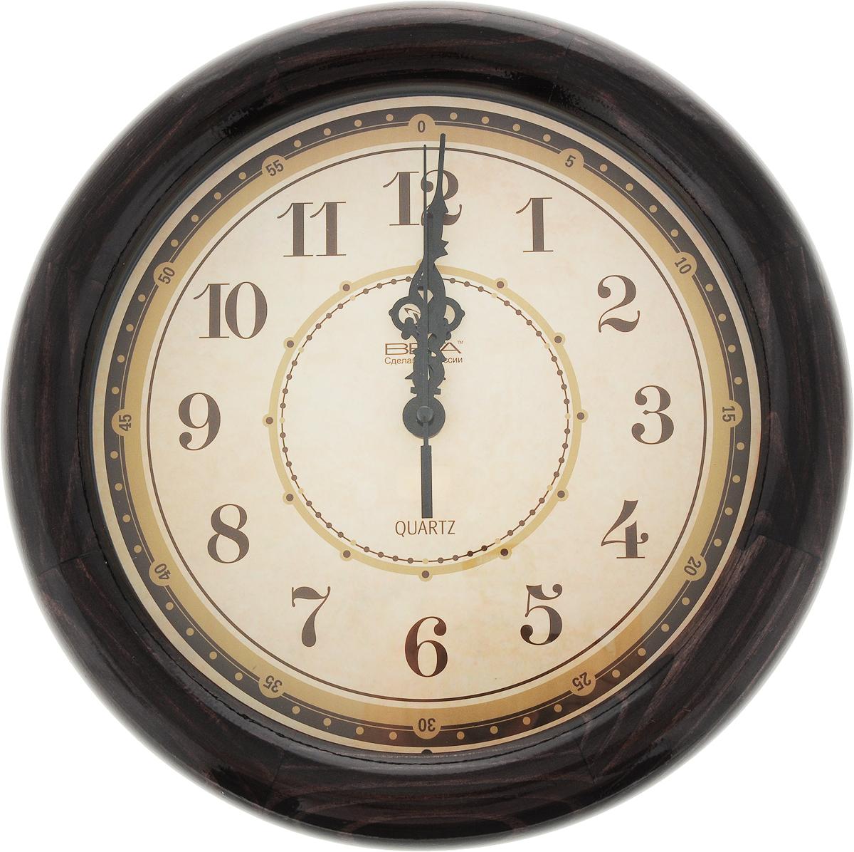 Часы настенные Вега Классика, цвет: темно-фиолетовый, диаметр 30 смД1МД/6-191_темно-фиолетовыйЧасы настенные Вега Классика, цвет: темно-фиолетовый, диаметр 30 см