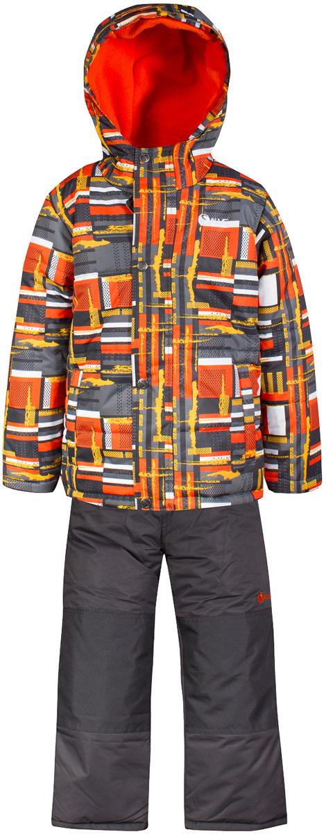 Комплект верхней одежды для мальчика Salve by Gusti, цвет: оранжевый. SWB 4649-ORANGE. Размер 104SWB 4649-ORANGEКомплект Salve by Gusti состоит из куртки и полукомбинезона. Ткань верха куртки: Мембрана с коэффициентом водонепроницаемости 2000 мм и коэффициентом паропроницаемости 2000 г/м2, одежда ветронепродуваемая. Благодаря тонкому полиуретановому напылению изнутри не промокает даже при сильной влаге, но при этом дышит (защита от влаги не препятствует циркуляции воздуха). Плотность ткани Т190 обеспечивает высокую износостойкость. Утеплитель: Тек-Полифилл (Tech-Polyfil) - 283г/м2, силиконизированый полиэстер изготовленный по новейшим технологиям, удерживает тепло при температуре до -30 С. Очень мягкий, создающий объем для сохранения тепла, более плотный на груди и спине (283г/м2) и менее плотный на рукавах (230г/м2). Высокоэффективный, обладающий повышенной устойчивостью к сжатию (после стирки в стиральной машине изделие достаточно встряхнуть), обеспечивающий хорошую вентиляцию, обладающий прекрасным, теплоизолирующими свойствами синтетический материал. Главные преимущества Тек-Полифила – одежда более пушистая на ощупь и менее тяжелое по весу. Подкладка: Высокотехнологичный флис COOLQUICK. Специальное кручение нитей позволяет ткани максимально впитывать влагу и увеличивать испаряемость с поверхности, т.е. выпустить пар, но не пропускает влагу снаружи, что обеспечивает комфорт даже при высоких физических нагрузках. Этот материал ранее был разработан специально для спортсменов, которые испытывали сильные нагрузки во время активного движения, а теперь принес комфорт и тепло в нашу повседневную жизнь. Это особенно важно для детей, когда они гуляют на свежем воздухе, чтобы тело всегда оставалось сухим и теплым. В этой одежде им будет тепло в течение длительного времени и нет необходимости надевать теплый свитер. Ткань верха полукомбинезона: Таслан ( Taslan )- мембрана с коэффициентом водонепроницаемости 2000 мм и коэффициентом паропроницаемости 2000 г/м2, одежда ветроне