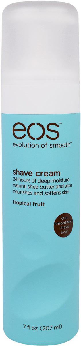 EOS Крем для бритья Tropical Fruit, 207 мл0247125Увлажняющий крем для бритья тела с ароматом тропических фруктов. Не содержит парабенов. Применяется в косметических целях для увлажнения и питания кожи во время бритья.