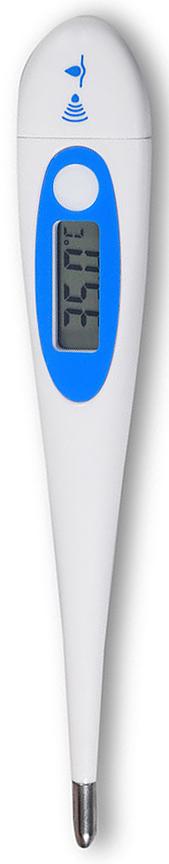 Amrus Термометр медицинский цифровой с усиленным сигналом AMDT-13AMDT-13Характеристики: Атравматический наконечник; Диапазон измерения температуры от 32,0 до 42,0 °С; Погрешность измерения температуры, ±0,1 (в диапазоне от 35,0 до 39,0 °С), ±0,2 (в диапазонах 32,0?34,9; 39,1?42,0 °С); Индикация: ЖК дисплей, цена наименьшего разряда 0,1°С; Источник питания элемент питания 1,5В (LR41, L736); Срок службы источника питания 1000 циклов измерения; Размеры (ВхШхД), 11 Х 21 Х 129 мм.; Звуковой сигнал:~ 1 секунда после включения; ~ 4 секунды после окончания измерения; ~ 4 секунды при температуре выше 37,8°С; Емкость памяти - один результат измерения; Масса 10,5 г.Комплект поставки: термометр электронный; пластмассовый футляр.Высококачественный прибор с увеличенным дисплеем, стеклом специальной формы и влагоустойчивым корпусом.