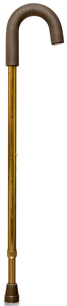 Amrus Трость телескопическая металлическая с закругленной рукояткой AMCС31AMCС31Телескопическая металлическая трость с закругленной рукояткой. Рукоятка круглая, резиновая с обмягчением. Такая форма рукоятки рекомендуется пациентам с артритом и артрозом кистей рук. Она обеспечивает удобный захват трости. При необходимости такую трость можно удобно повесить на руку или на любой выступ.