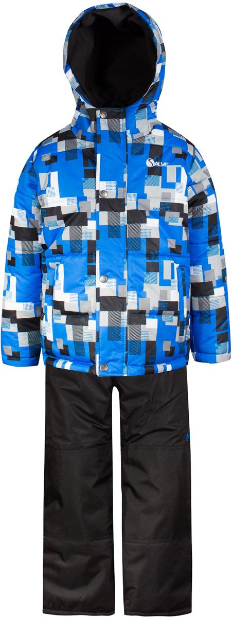 Комплект верхней одежды для мальчика Salve by Gusti, цвет: синий. SWB 4645-ELECTRIC BLUE. Размер 96SWB 4645-ELECTRIC BLUEКомплект Salve by Gusti состоит из куртки и полукимбинезона. Ткань верха куртки: Мембрана с коэффициентом водонепроницаемости 2000 мм и коэффициентом паропроницаемости 2000 г/м2, одежда ветронепродуваемая. Благодаря тонкому полиуретановому напылению изнутри не промокает даже при сильной влаге, но при этом дышит (защита от влаги не препятствует циркуляции воздуха). Плотность ткани Т190 обеспечивает высокую износостойкость. Утеплитель: Тек-Полифилл (Tech-Polyfil) - 283г/м2, силиконизированый полиэстер изготовленный по новейшим технологиям, удерживает тепло при температуре до -30 С. Очень мягкий, создающий объем для сохранения тепла, более плотный на груди и спине (283г/м2) и менее плотный на рукавах (230г/м2). Высокоэффективный, обладающий повышенной устойчивостью к сжатию (после стирки в стиральной машине изделие достаточно встряхнуть), обеспечивающий хорошую вентиляцию, обладающий прекрасным, теплоизолирующими свойствами синтетический материал. Главные преимущества Тек-Полифила – одежда более пушистая на ощупь и менее тяжелое по весу. Подкладка: Высокотехнологичный флис COOLQUICK. Специальное кручение нитей позволяет ткани максимально впитывать влагу и увеличивать испаряемость с поверхности, т.е. выпустить пар, но не пропускает влагу снаружи, что обеспечивает комфорт даже при высоких физических нагрузках. Этот материал ранее был разработан специально для спортсменов, которые испытывали сильные нагрузки во время активного движения, а теперь принес комфорт и тепло в нашу повседневную жизнь. Это особенно важно для детей, когда они гуляют на свежем воздухе, чтобы тело всегда оставалось сухим и теплым. В этой одежде им будет тепло в течение длительного времени и нет необходимости надевать теплый свитер. Ткань верха полукомбинезона: Таслан ( Taslan )- мембрана с коэффициентом водонепроницаемости 2000 мм и коэффициентом паропроницаемости 2000 г/м2, одежд