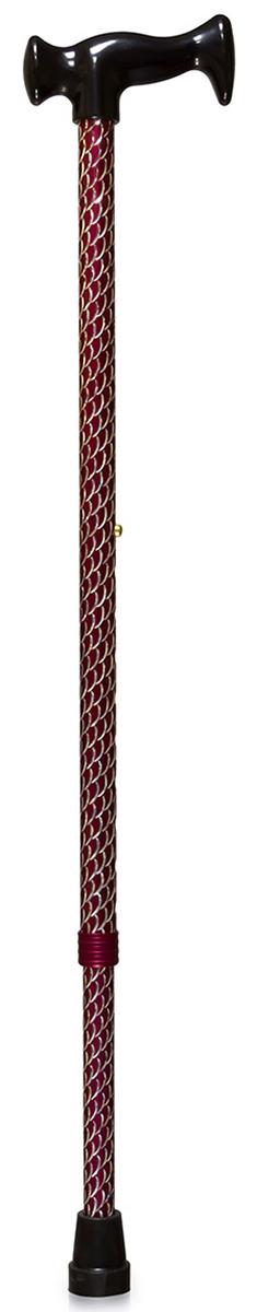 Amrus Трость телескопическая металлическая с ортопедической пластмассовой рукояткой (красный цвет) AMCT23 RD - Вспомогательные средства передвижения