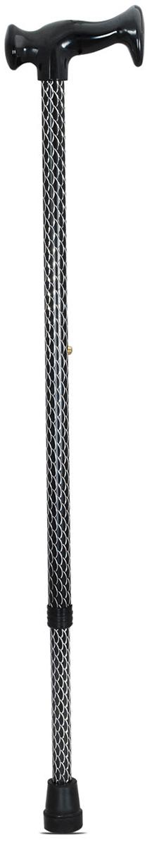 Amrus Трость телескопическая металлическая с ортопедической пластмассовой рукояткой (черный цвет) AMCT23 BK - Вспомогательные средства передвижения