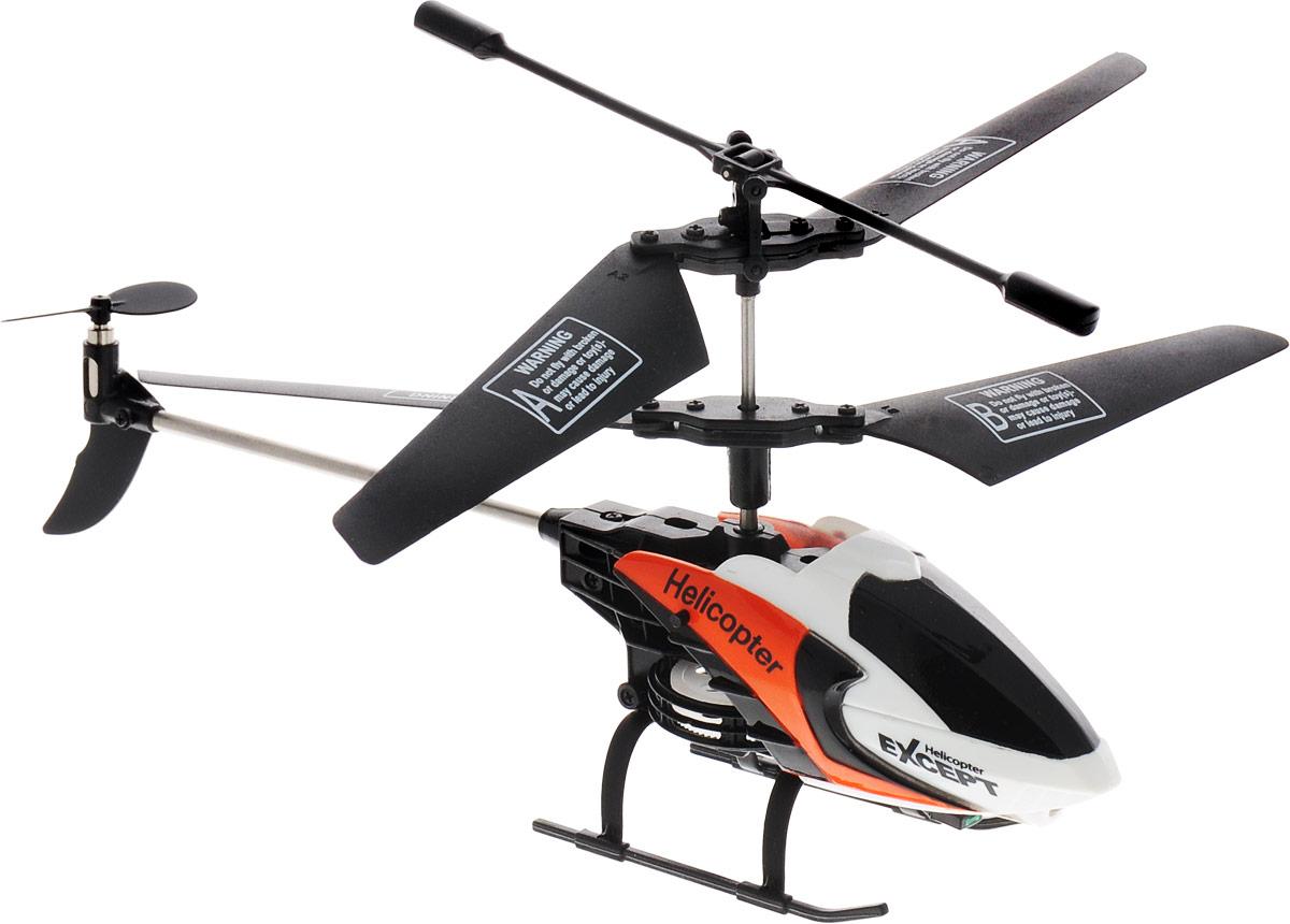 Mioshi Вертолет на радиоуправлении Tech IR-223 цвет черный белый оранжевый
