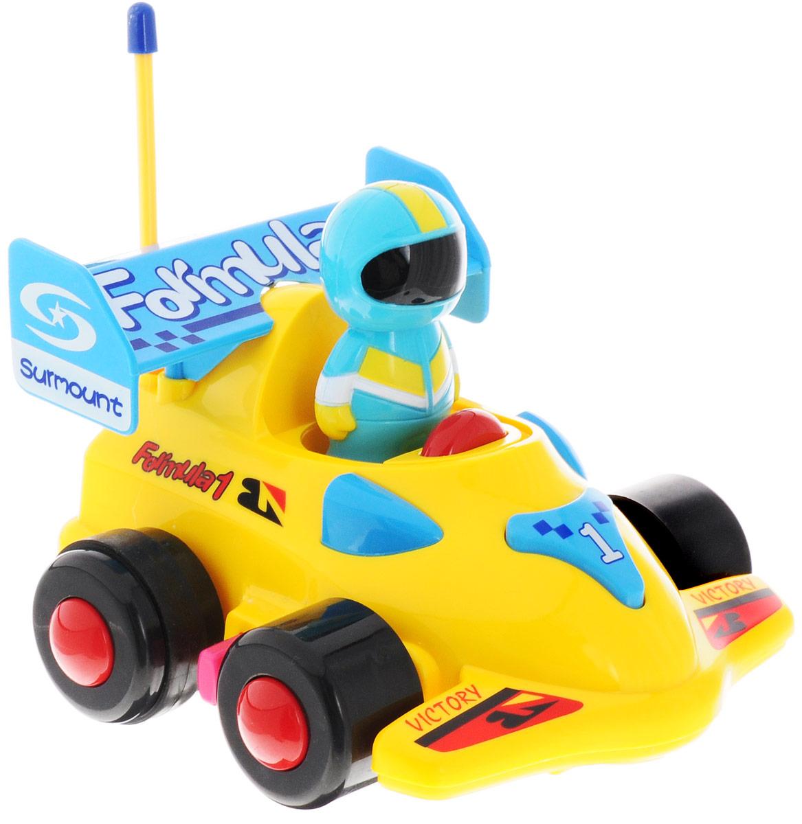 Mioshi Машинка на радиоуправлении Tech цвет желтый голубой радиоуправляемая игрушка mioshi tech rocket bomber red mte1201 029
