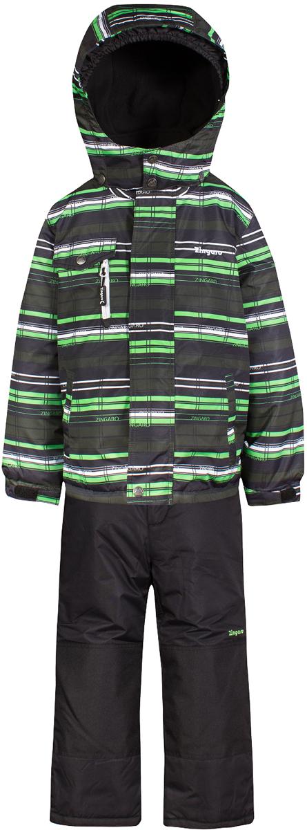 Комплект верхней одежды для мальчика Zingaro by Gusti, цвет: зеленый. ZWB 4615-GREEN FLASH. Размер 123ZWB 4615-GREEN FLASHКомплект Zingaro by Gusti выполнен из мембраны с коэффициентом водонепроницаемости 2000 мм и коэффициентом паропроницаемости 2000 г/м2, одежда ветронепродуваемая. Благодаря тонкому полиуретановому напылению изнутри не промокает даже при сильной влаге, но при этом дышит (защита от влаги не препятствует циркуляции воздуха). Плотность ткани Т190 обеспечивает высокую износостойкость. Утеплитель: Тек-Полифилл (Tech-Polyfil) - 230г/м2, силиконизированый полиэстер изготовленный по новейшим технологиям, удерживает тепло при температуре до -30 С. Очень мягкий, создающий объем для сохранения тепла. Высокоэффективный, обладающий повышенной устойчивостью к сжатию (после стирки в стиральной машине изделие достаточно встряхнуть), обеспечивающий хорошую вентиляцию, обладающий прекрасным, теплоизолирующими свойствами синтетический материал. Главные преимущества Тек-Полифила – одежда более пушистая на ощупь и менее тяжелое по весу. Подкладка: высокотехнологичный флис COOLQUICK. Специальное кручение нитей позволяет ткани максимально впитывать влагу и увеличивать испаряемость с поверхности, т.е. выпустить пар, но не пропускает влагу снаружи, что обеспечивает комфорт даже при высоких физических нагрузках. Этот материал ранее был разработан специально для спортсменов, которые испытывали сильные нагрузки во время активного движения, а теперь принес комфорт и тепло в нашу повседневную жизнь. Это особенно важно для детей, когда они гуляют на свежем воздухе, чтобы тело всегда оставалось сухим и теплым. В этой одежде им будет тепло в течение длительного времени и нет необходимости надевать теплый свитер. Верхняя одежда ZINGARO просто чистится. Стирать одежду придется очень редко – только при сильных загрязнениях. Если малыш забрался в лужу или грязь, просто вытрите пятно влажной тряпкой.