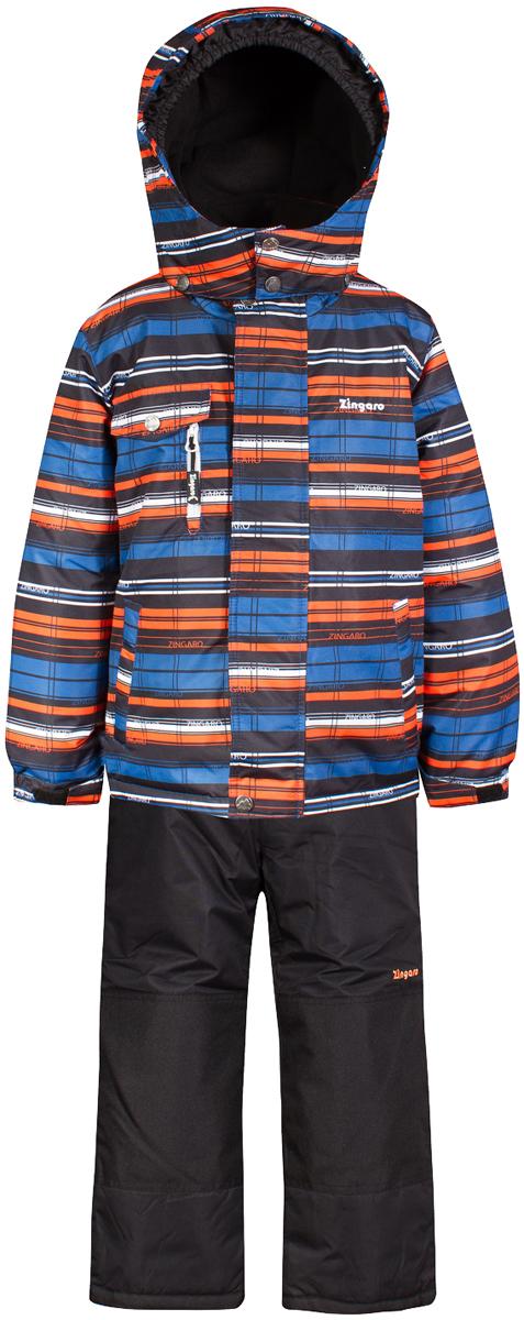 Комплект верхней одежды для мальчика Zingaro by Gusti, цвет: оранжевый. ZWB 4615-ORANGE. Размер 119ZWB 4615-ORANGEКомплект Zingaro by Gusti выполнен из мембраны с коэффициентом водонепроницаемости 2000 мм и коэффициентом паропроницаемости 2000 г/м2, одежда ветронепродуваемая. Благодаря тонкому полиуретановому напылению изнутри не промокает даже при сильной влаге, но при этом дышит (защита от влаги не препятствует циркуляции воздуха). Плотность ткани Т190 обеспечивает высокую износостойкость. Утеплитель: Тек-Полифилл (Tech-Polyfil) - 230г/м2, силиконизированый полиэстер изготовленный по новейшим технологиям, удерживает тепло при температуре до -30 С. Очень мягкий, создающий объем для сохранения тепла. Высокоэффективный, обладающий повышенной устойчивостью к сжатию (после стирки в стиральной машине изделие достаточно встряхнуть), обеспечивающий хорошую вентиляцию, обладающий прекрасным, теплоизолирующими свойствами синтетический материал. Главные преимущества Тек-Полифила – одежда более пушистая на ощупь и менее тяжелое по весу. Подкладка: высокотехнологичный флис COOLQUICK. Специальное кручение нитей позволяет ткани максимально впитывать влагу и увеличивать испаряемость с поверхности, т.е. выпустить пар, но не пропускает влагу снаружи, что обеспечивает комфорт даже при высоких физических нагрузках. Этот материал ранее был разработан специально для спортсменов, которые испытывали сильные нагрузки во время активного движения, а теперь принес комфорт и тепло в нашу повседневную жизнь. Это особенно важно для детей, когда они гуляют на свежем воздухе, чтобы тело всегда оставалось сухим и теплым. В этой одежде им будет тепло в течение длительного времени и нет необходимости надевать теплый свитер. Верхняя одежда ZINGARO просто чистится. Стирать одежду придется очень редко – только при сильных загрязнениях. Если малыш забрался в лужу или грязь, просто вытрите пятно влажной тряпкой.
