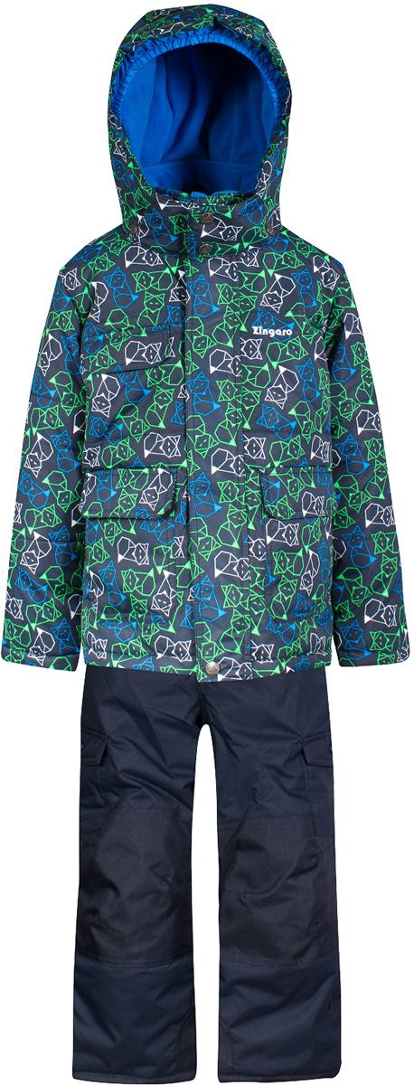 Комплект верхней одежды для мальчика Zingaro by Gusti, цвет: темно-синий. ZWB 4608-NAVY. Размер 96