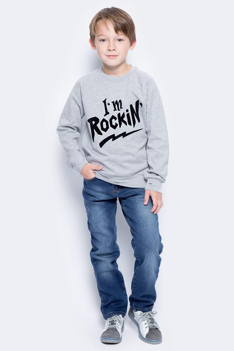 Брюки для мальчика Sela, цвет: темно-синий джинс. PJ-835/026-7442. Размер 128, 8 летPJ-835/026-7442