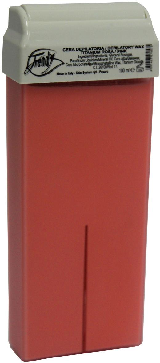 Trendy Воск для депиляции Розовый (с диоксидом титана) в картридже, 100 мл воск для депиляции kapous 388 жирорастворимый воск