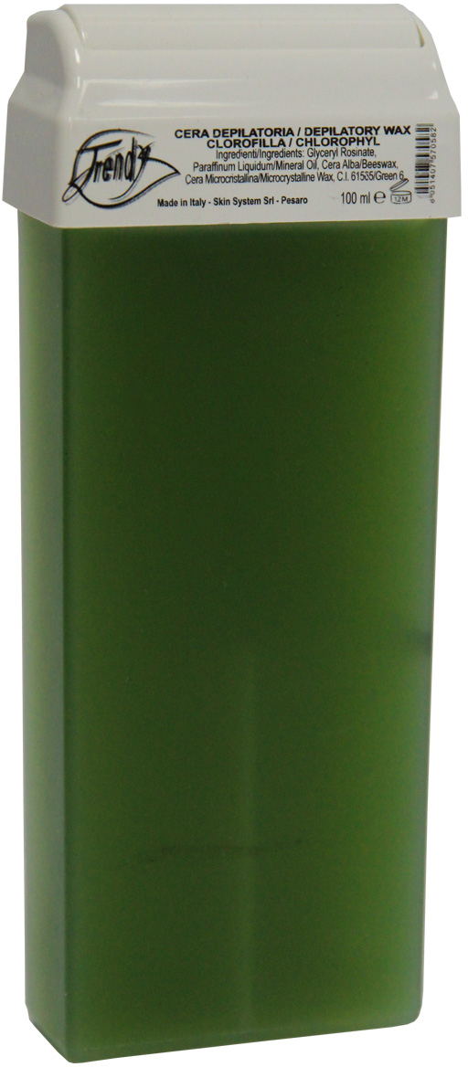 Trendy Воск для депиляции Зеленый в картридже, 100 мл воск для депиляции kapous 388 жирорастворимый воск