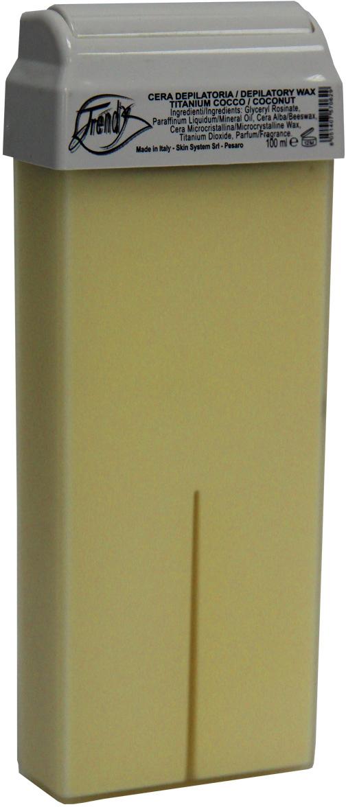 Trendy Воск для депиляции Кокосовый (с диоксидом титана) в картридже, 100 мл30006Кремообразный воск предназначен для всех типов волос. Подходит также для чувствительной кожи. Описание: Обладает противовоспалительным действием, смягчает и увлажняет кожу. Входящий в состав диоксид титана придает вязкость и плотность структуре воска, благодаря чему происходит лучшее сцепление с волосом.