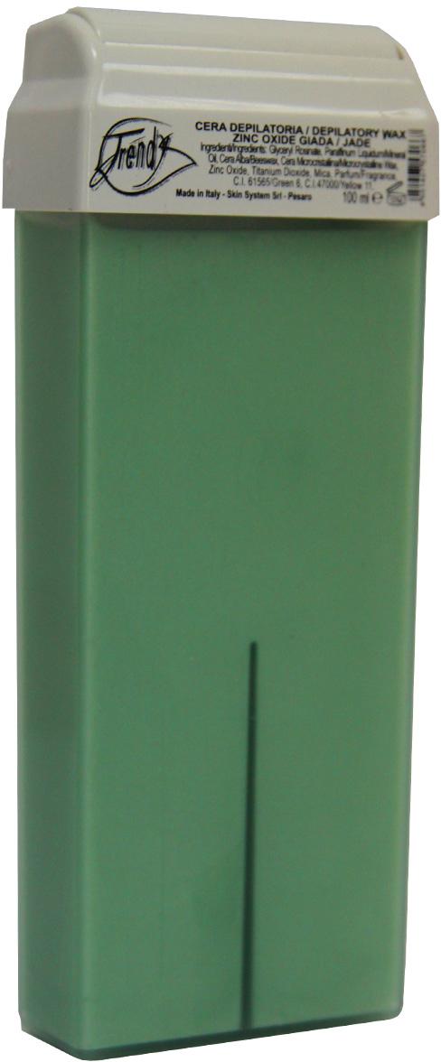 Trendy Воск для депиляции Нефрит (с оксидом цинка) в картридже, 100 мл воск для депиляции и полоски купить