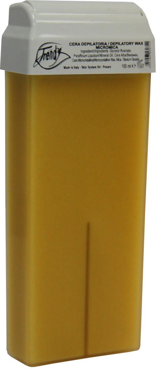 Trendy Воск для депиляции Микромика в картридже, 100 мл30015Воск с кремообразной текстурой. Подходит для депиляции всех типов волос, а также для гиперчувствительной кожи. Идеален для для загорелой, обезвоженной, сухой, особо чувствительной кожи. Описание: Обладает низкой температурой плавления, что гарантирует более комфортную процедуру. Сочетание диоксида титана, оксида цинка и слюды способствует проведению максимально безболезненной процедуры депиляции.