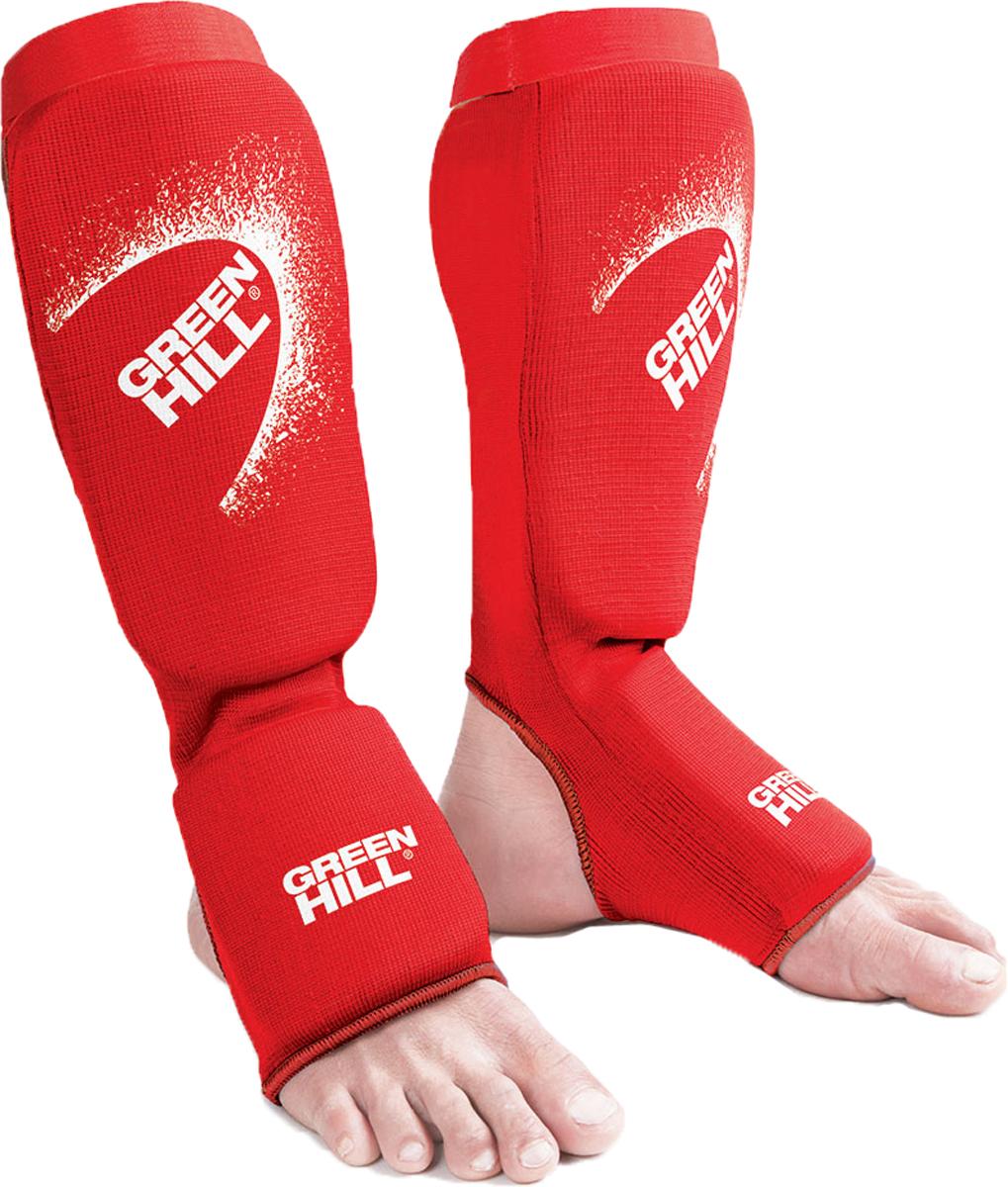 Защита голени и стопы Green Hill Эластик, цвет: красный. SIC-6131. Размер M