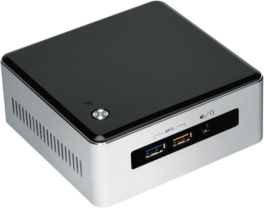Intel NUC BOXNUC5I3RYH мини ПК1166838Intel NUC BOXNUC5I3RYH — это революционное, ультракомпактное устройство — предоставляет широкий набор функциональных возможностей в корпусе размером 115 x 111 мм.Данная модель создана на базе процессора Intel Core i3-5010U 5-го поколения с технологией Intel Turbo Boost, которая увеличивает тактовую частоту по требованию, чтобы обеспечить вам максимальную производительность для решения требовательных к ресурсам задач, таких как редактирование видео.В данном решении реализована возможность установки как 2.5-дюймового жесткого диска для хранения ваших любимых фильмов, так и твердотельного накопителя M.2 для достижения максимальной скорости передачи данных.Заменяемая крышка позволит вам создать решение, максимально удовлетворяющее вашим потребностям — по стилю и функциональным возможностям. Кроме того, в его состав входит графическое решение Intel HD Graphics 5500 с поддержкой дисплеев с разрешением 4K, обеспечивающее великолепное качество графики. Высокоскоростной порт USB 3.0 с функцией зарядки других устройств позволяет легко и быстро заряжать планшет или смартфон. Intel NUC BOXNUC5I3RYH, дополненное беспроводным модулем Wi-Fi 802.11ac, с интерфейсом Bluetooth и с поддержкой объемного звука 7.1 идеально подойдет для создания домашних кинотеатров, медиа-серверов и мультимедийных центров у вас дома.Встроенные функции безопасности, помогающие предотвратить угрозы и защитить идентификационные и учетные данные, обеспечат вам уверенность и спокойствие. Мощность, размеры и универсальность Intel Nuc помогут вам переосмыслить границы возможного.Точные характеристики зависят от модели.Компьютер сертифицирован EAC и имеет русифицированное Руководство пользователя.