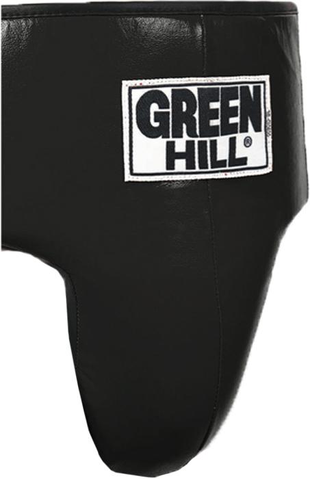 Защита паха Green Hill Pro Boxing, цвет: черный. GGР-6040. Размер SGGР-6040Защита паха Green Hill Pro Boxing выполнена из натуральной кожи. Плотный наполнитель по всему периметру талии обеспечивает надежную защиту брюшной полости.Длина кожаного пояса: 67 см. Плюс длина резинки: 101 см.Ширина (без растяжения): 31 см. Внутри защитная подушка толщиной: 2,5 см.