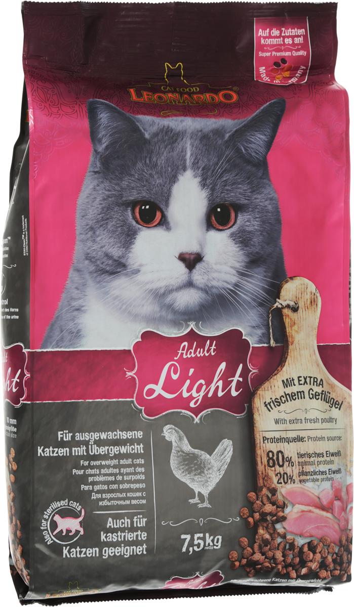 Корм сухой Leonardo New Лайт для кастрированных котов и стерилизованных кошек, для животных, страдающих избыточным весом, 7,5 кг63069Сухой корм Leonardo New Light предназначен для кастрированных котов и стерилизованных кошек, а также для животных, страдающих избыточным весом. Существует много причин избыточного веса. Является ли это следствием неправильного кормления, чрезмерного лечения, или причина в гормональном сбое после кастрации, - во всех случаях снижается активность вашего питомца и значительно увеличивается риск заболевания. Скорректировав диету кошки как можно раньше с помощью низкокалорийного корма New Light, вы поддержите здоровье питомца в отличной форме. Морской зоопланктон (криль) - обогащен важными компонентами, такими как жирные кислоты Омега-3, астаксантин и натуральные энзимы. Семена чии поддерживают пищеварение при помощи природных слизистых веществ и содержат 20% жирных кислот Омега-3. Корм содержит насыщающие яблочные волокна. В составе натуральный источник диетической клетчатки. Преимущества:- L-карнитин - способствует снижению веса. - Удаление зубного налета с помощью добавки STAY-Clean. - PH контроль - оптимизирует PH мочи. Источники белка: 80% животный белок, 20% растительный белок. Состав: свежее мясо птицы (30 %); белок домашней птицы пониженной зольности, высушенный (23 %); рис; кукуруза; мука сельди (9 %); яблочный жмых, сушеный (4 %); гидролизат печени птицы; рожь, солод; высушенное яйцо; морской зоопланктон, измельченный (криль, 2,5 %); овсяные отруби (2,5 %); пивные дрожжи, сушеные; cемена чии (1,3 %); жир домашней птицы; поваренная соль; калий хлористый; инулин. Размер гранул 10 мм. Товар сертифицирован.