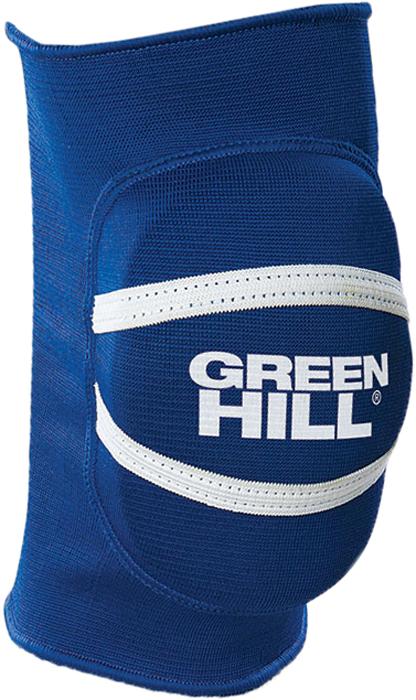 "Наколенники для тхэквондо Green Hill ""Elastic Protection"", текстиль, цвет: синий. Размер L"