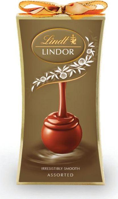 Lindt Lindor конфеты ассорти, 75 г merci конфеты молочные ассорти 250 г