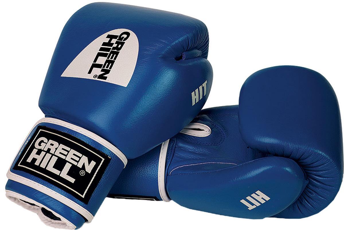 Перчатки боксерские Green Hill Hit, цвет: синий. Вес 14 унцийBGH-2257Боксерские перчатки HIT разработаны специально для тайского бокса и кикбоксинга. Перчатки имеют превосходную посадку на руке и характерную для данных видов спорта форму. Выполнены из натуральной коровьей кожи. Наполнитель перчаток - многослойная полимерная структура ручной работы, обеспечивающая оптимальное поглощение силы удара. Манжет на липучке. - Тренировочные боксерские перчатки с манжетой на липучке.- Натуральная коровья кожа.- Многослойный наполнитель ручной работы.