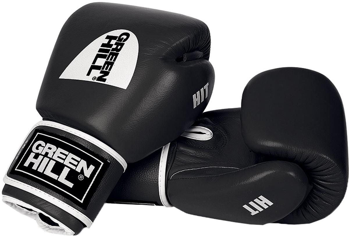 Перчатки боксерские Green Hill Hit, цвет: черный. Вес 8 унцийBGH-2257Боксерские перчатки Green Hill Hit разработаны специально для тайского бокса и кикбоксинга. Перчатки имеют превосходную посадку на руке и характерную для данных видов спорта форму. Выполнены из натуральной коровьей кожи. Наполнитель перчаток - многослойная полимерная структура ручной работы, обеспечивающая оптимальное поглощение силы удара. Манжет на липучке.