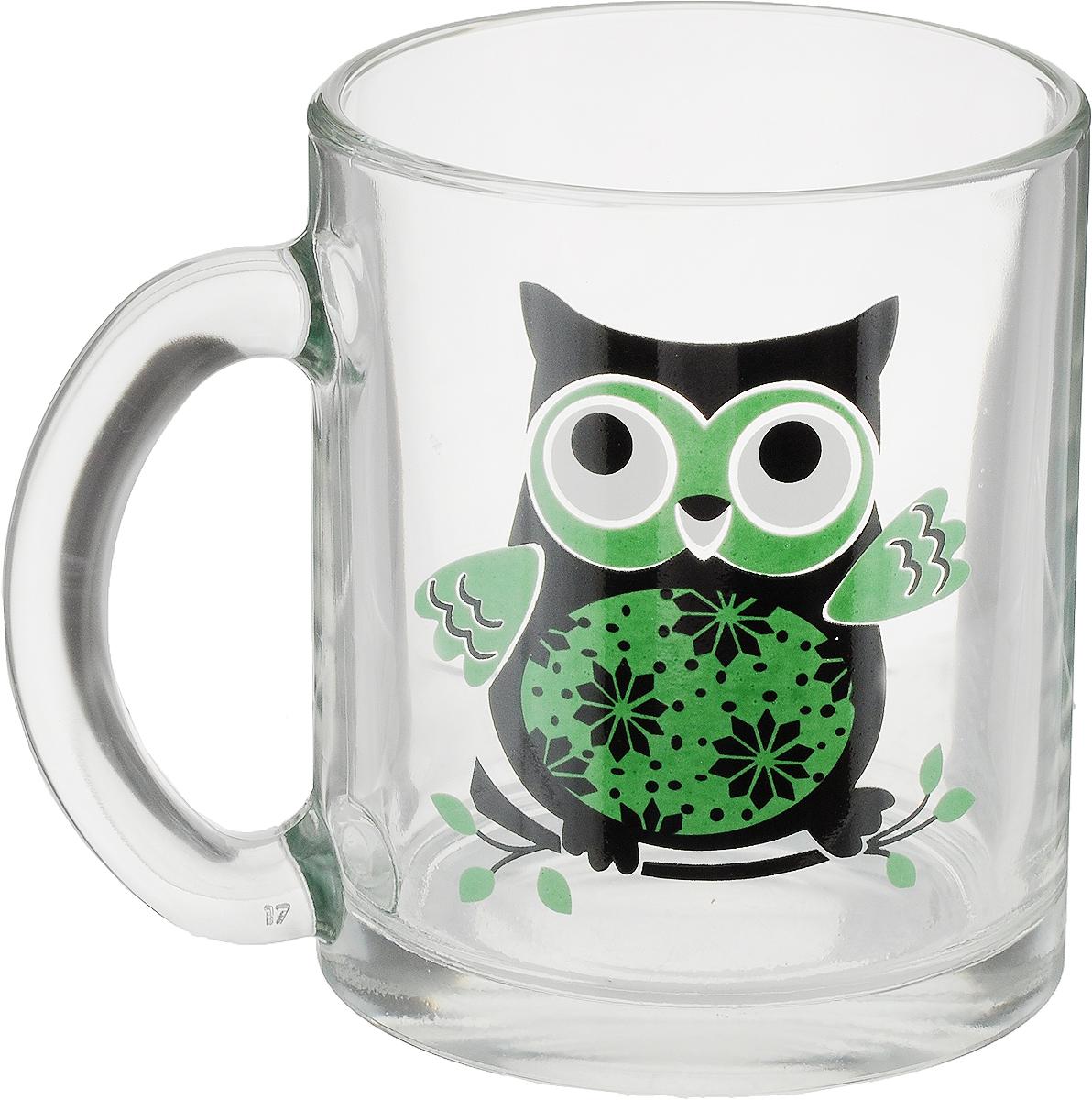 """Кружка OSZ """"Чайная. Совы"""" способна скрасить любое чаепитие. Изделие выполнено из  высококачественного жаропрочного стекла. Посуда из такого материала позволяет сохранить  истинный вкус напитка, а также помогает ему дольше оставаться теплым. Диаметр по верхнему краю: 8 см. Высота кружки: 9,5 см."""