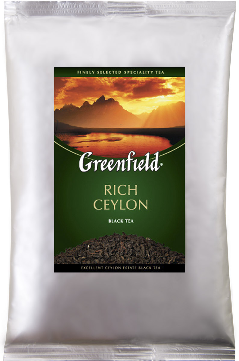Greenfield Rich Ceylon черный листовой чай, 250 г greenfield blueberry forest черный листовой чай 250 г