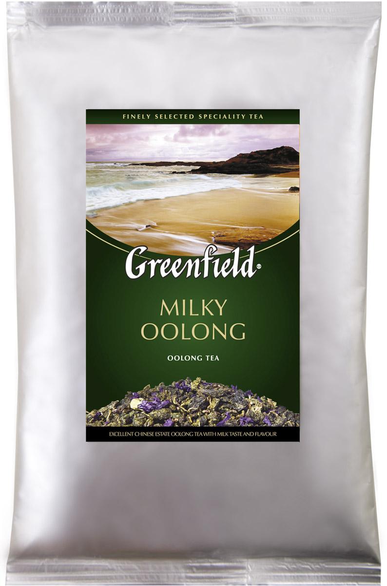 Greenfield Milky Oolong зеленый листовой чай, 250 г0980-15Наполненный мягкий вкус и долгое сладковатое послевкусие редкого полуферментированного чая Oolong превосходно сочетаются с тонкими молочно-сливочными нотами, которые завершают выразительный букет Greenfield Milky Oolong.
