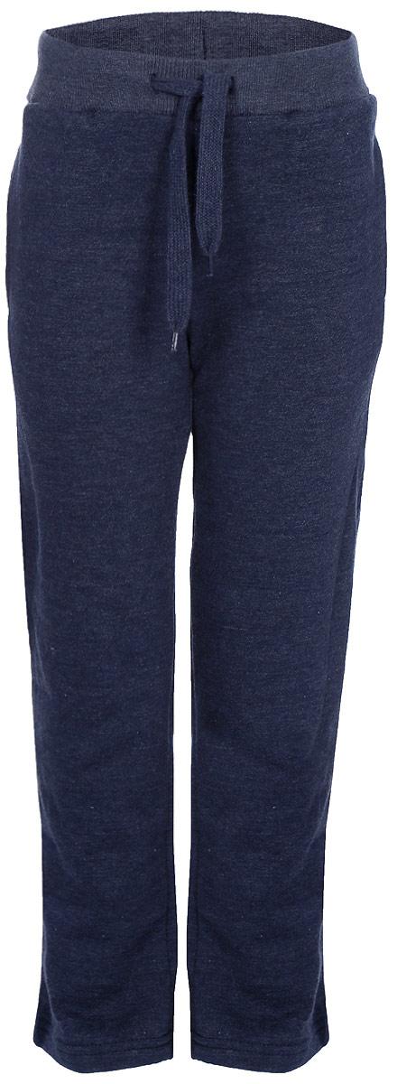Брюки спортивные для мальчика Sela, цвет: синяя впадина меланж. Pk-715/109-7341. Размер 110, 5 летPk-715/109-7341Спортивные брюки для мальчика от Sela выполнены из хлопкового трикотажа. Модель на талии дополнена эластичной резинкой и затягивающимся шнурком, по бокам имеются втачные карманы.