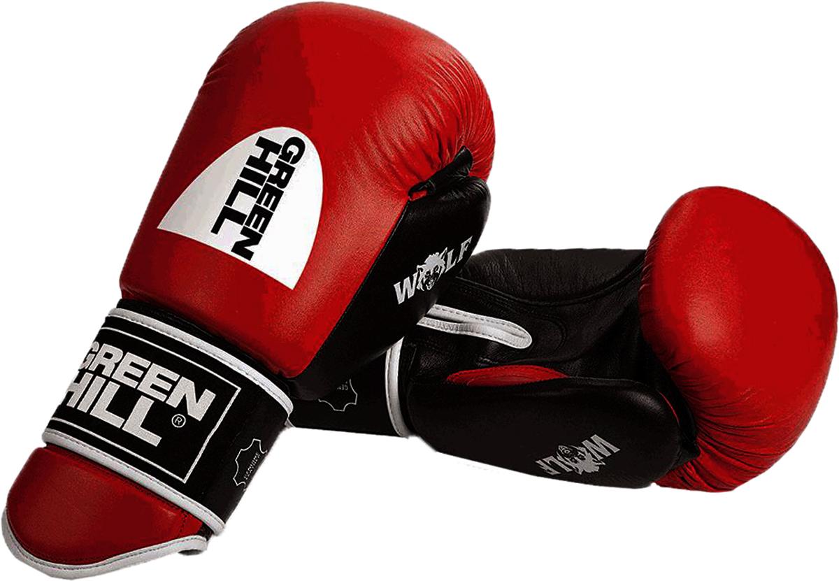 Перчатки боксерские Green Hill Wolf, цвет: красный, черный. Вес 16 унцийBGW-2242Боксерские перчатки WOLF являются уникальным предложением на рынке. Удлинённый манжет с плотным наполнителем обеспечивает повышенную защиту рук от ударов ногами. Перчатки выполнены из натуральной кожи буйвола. Наполнитель - формованный пенополиуретан технологии Pre-SHAPE. В перчатках применена технология ANTISHOCK SYSTEM для снижения риска травмы принимающего удар боксера. Манжет на липучке. - Тренировочные боксерские перчатки с манжетой на липучке.- Натуральная кожа буйвола.- Удлиненный и усиленный манжет для защиты от ударов ногами.- Формованный наполнитель из пенополиуретан технологии Pre-SHAPE.- Технология ANTISHOCK SYSTEM.