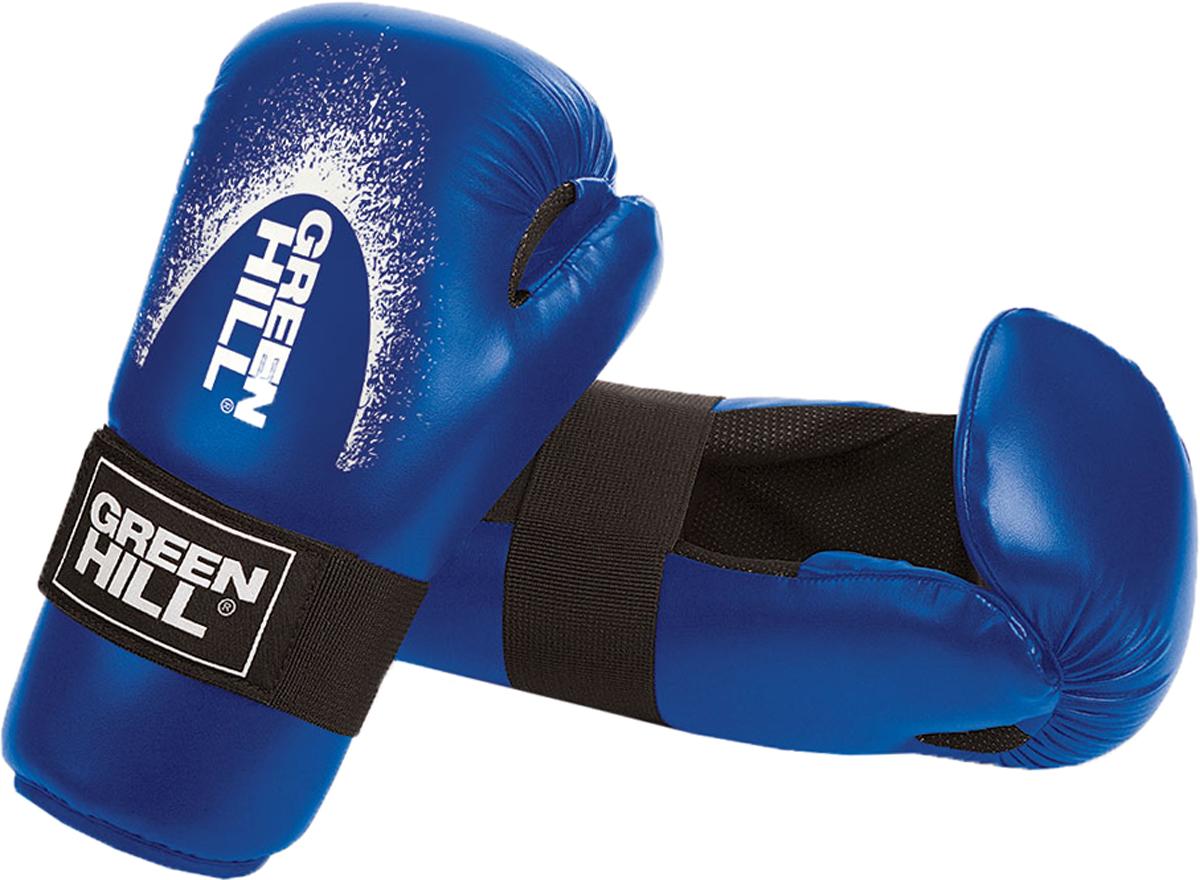 Перчатки для контактных единоборств Green Hill  7-contact , цвет: синий. SCG-2048c/а. Размер S - Единоборства