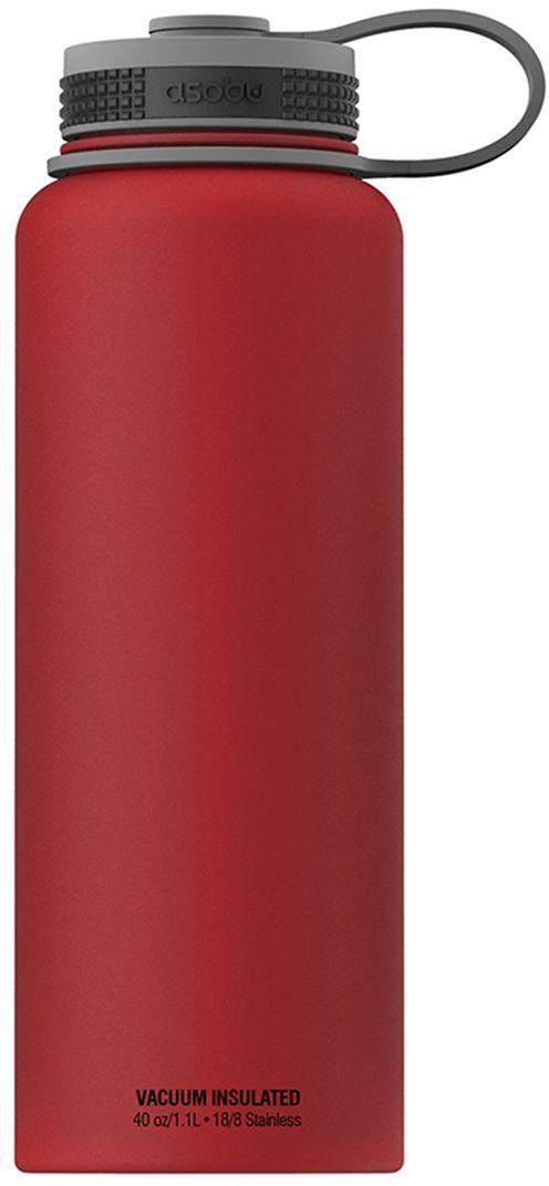 Термобутылка Asobu The Mighty Flask, цвет: красный, 1,1 лTMF1 redThe Mighty Flask от Asobu - легкая и безопасная термобутылка в элегантном дизайне. Возьмите с собой на прогулку или даже на вечеринку удобную фляжку со своим любимым напитком. Особенности:- Для многоразового использования и BPA FREE (материал, из которого изготовлено изделие, не содержит Бисфенол А).- Пожизненная гарантия- Матовая защитная отделка. - Напиток остается горячим до 12 часов. - Напиток остается холодным до 24 часов. - Удобное для питья широкое горло. - Идеален для кофе, чая, спортивных напитков, пива. - Двойные стенки с вакуумной изоляцией. - Подлежит вторичной переработке. Объем 1,1 л.Высота: 27 см.Диаметр: 9 см.
