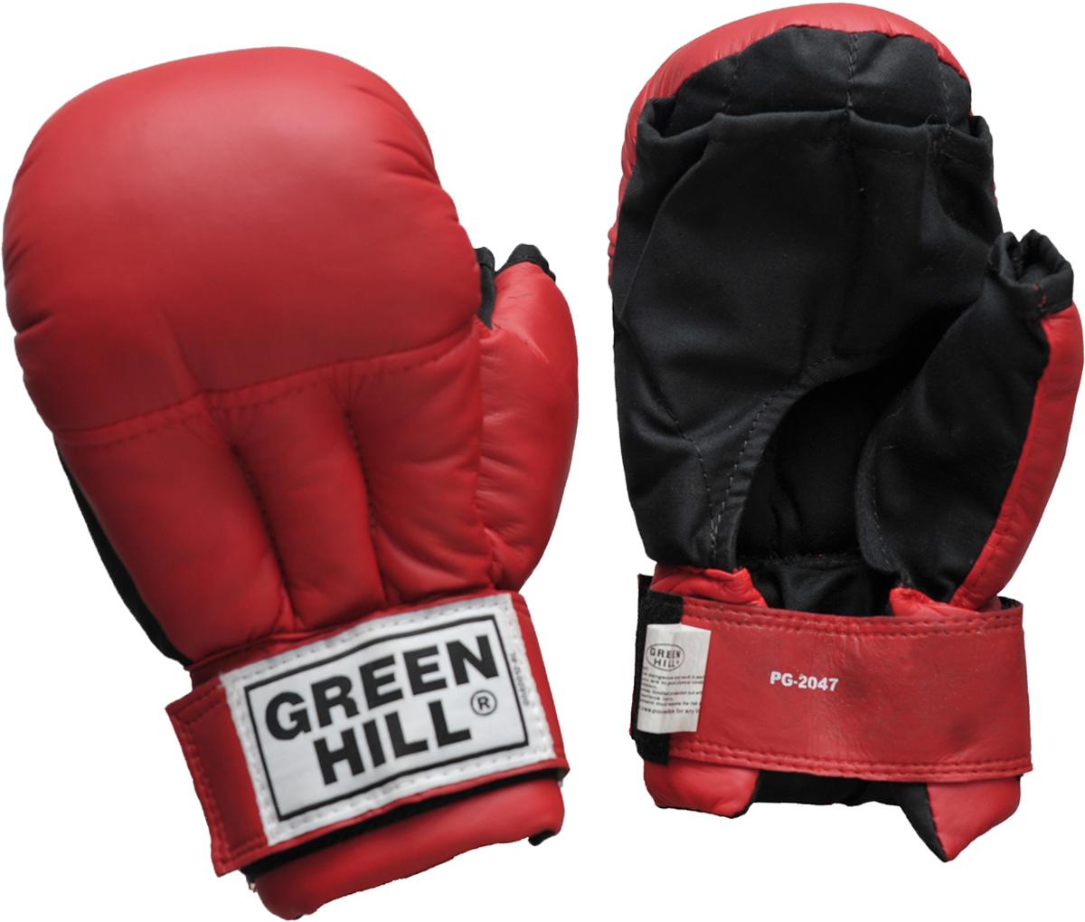 Перчатки для рукопашного боя Green Hill, цвет: красный. PG-2047. Размер MPG-2047Перчатки для рукопашного боя Green Hill произведены из высококачественной искусственной кожи. Подойдут для занятий смешанными единоборствами. Конструкция предусматривает открытые пальцы - необходимый атрибут для проведения захватов. Манжеты на липучках позволяют быстро снимать и надевать перчатки без каких-либо неудобств.