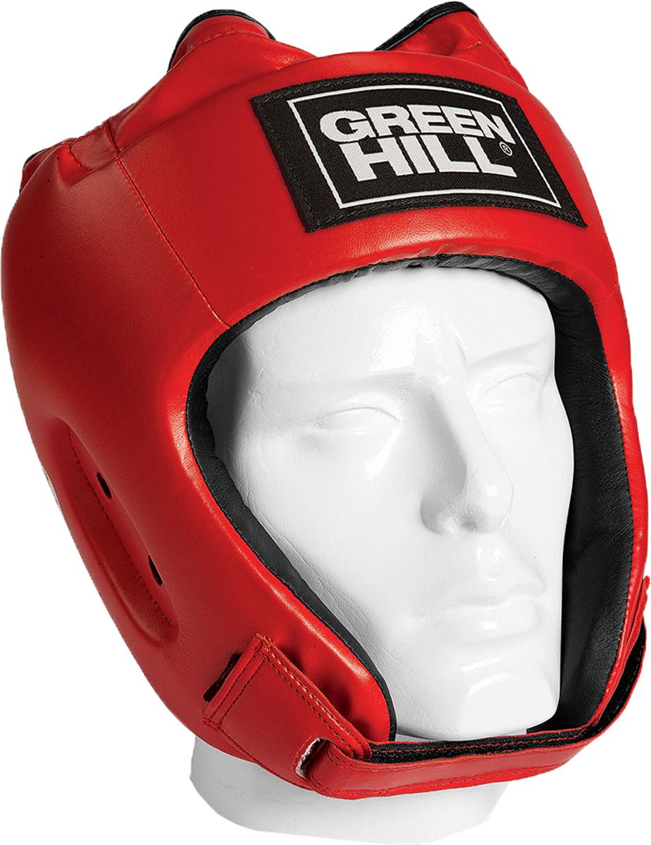 Шлем боксерский Green Hill Alfa, цвет: красный. HGA-4014. Размер MHGA-4014Шлем сделан из высококачественной искусственной кожи. Двойная система крепления позволит надежно зафиксировать шлем.Подходит как для тренировок, так и для соревнований.Размер:При подборе шлема следует также учесть, что размеры шлемов можно регулировать за счет специальных застежек.Для выбора шлемов, ориентируйтесь на следующие данные:охват головы - размер48-53 см - S54-56 см - М57-60 см – L61-63 см - XL