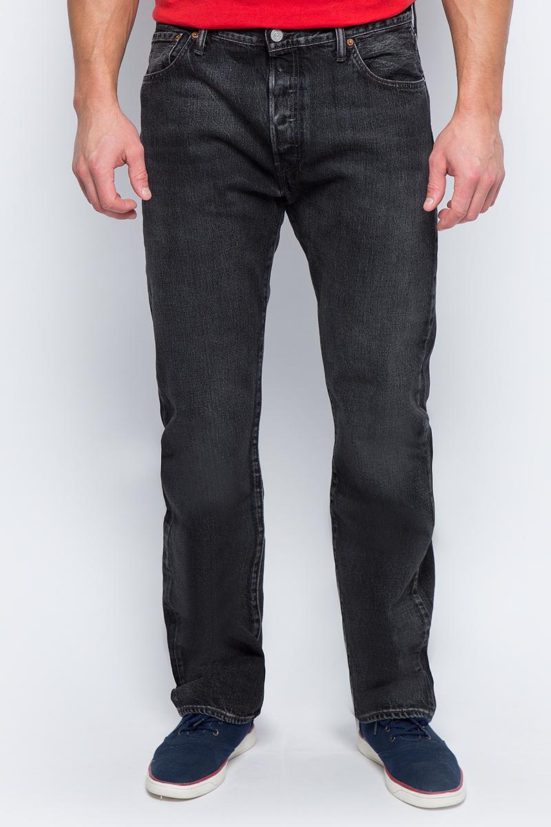 Джинсы мужские Levi's® 501, цвет: черный. 50124680. Размер 36-32 (52-32) ostin зауженные к низу джинсы
