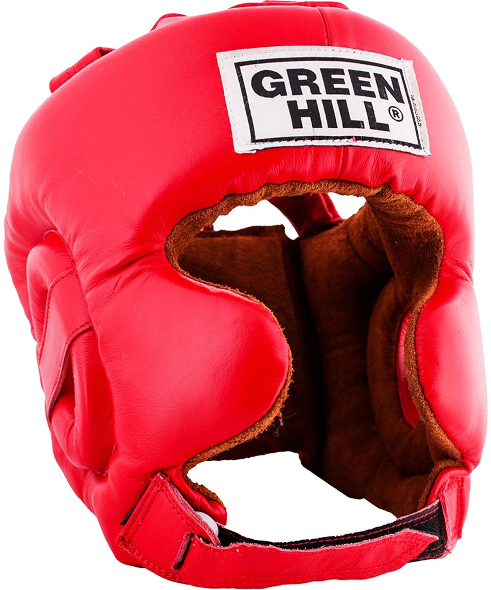Шлем боксерский Green Hill Defence, цвет: красный. Размер L шлем боксерский adidas aiba цвет красный aibah1 размер xl 56 60 см