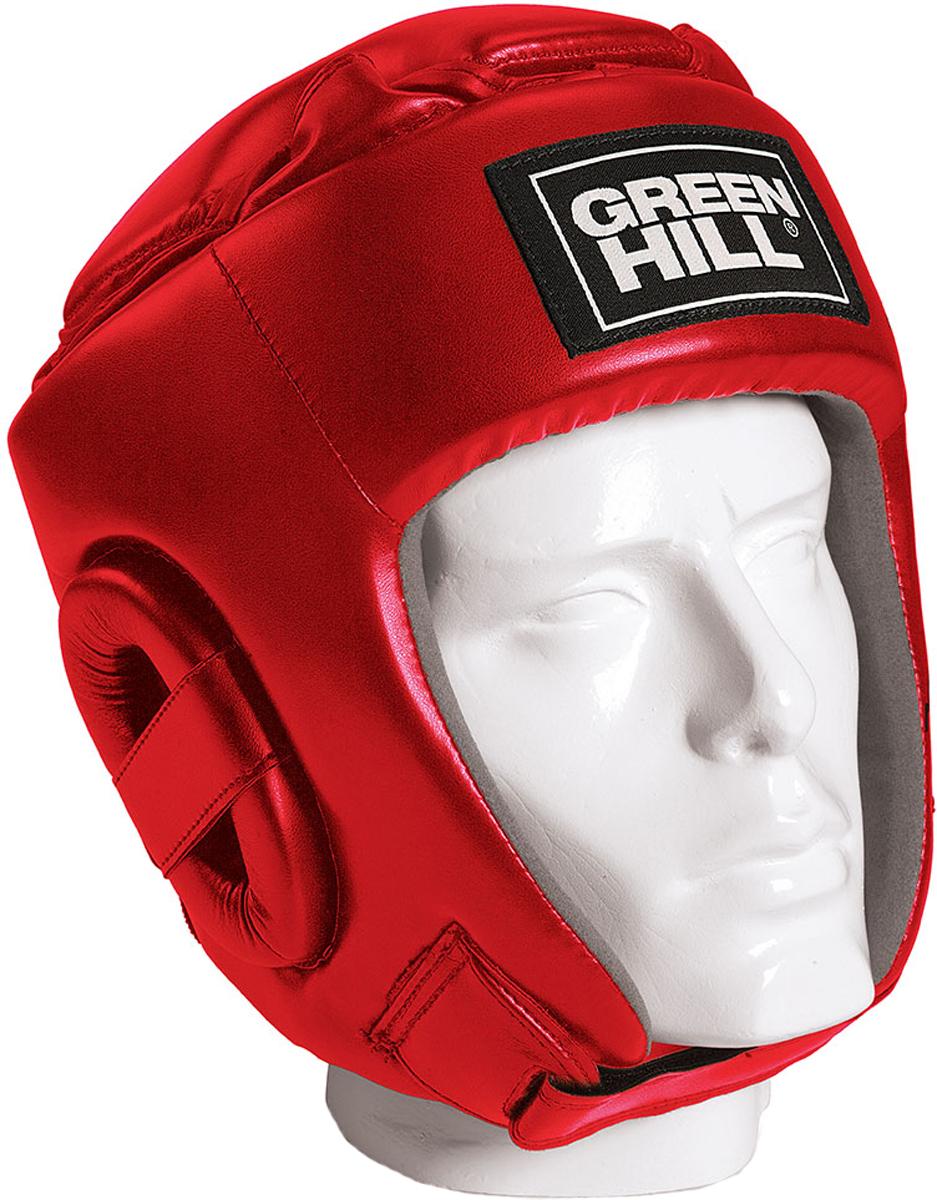 Шлем боксерский Green Hill Glory, цвет: красный. HGG-9046. Размер MHGG-9046Соревновательный шлем Green Hill Glory является конструктивной новинкой на рынке единоборств. Особенность конструкции в том, что крышка шлема сочетает в себе и шнуровку и крестообразный пенный модуль как в шлемах Best и Pro, обеспечивая тем самым защиту головы от ударов сверху с максимально гибкую фиксацию за счет шнуровки.Шлем будет интересен в первую очередь кикбоксерам.Внешняя сторона шлема выполнена из пенополиуретан FX, внутренняя сторона из искусственной замши Amara.