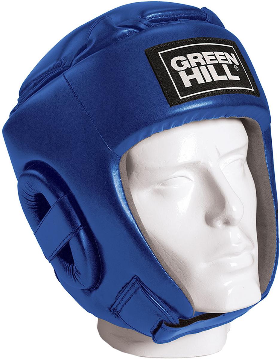 Шлем боксерский Green Hill Glory, цвет: синий. HGG-9046. Размер XLHGG-9046Соревновательный шлем Green Hill Glory является конструктивной новинкой на рынке единоборств. Особенность конструкции в том, что крышка шлема сочетает в себе и шнуровку и крестообразный пенный модуль как в шлемах Best и Pro, обеспечивая тем самым защиту головы от ударов сверху с максимально гибкую фиксацию за счет шнуровки.Шлем будет интересен в первую очередь кикбоксерам.Внешняя сторона шлема выполнена из пенополиуретан FX, внутренняя сторона из искусственной замши Amara.