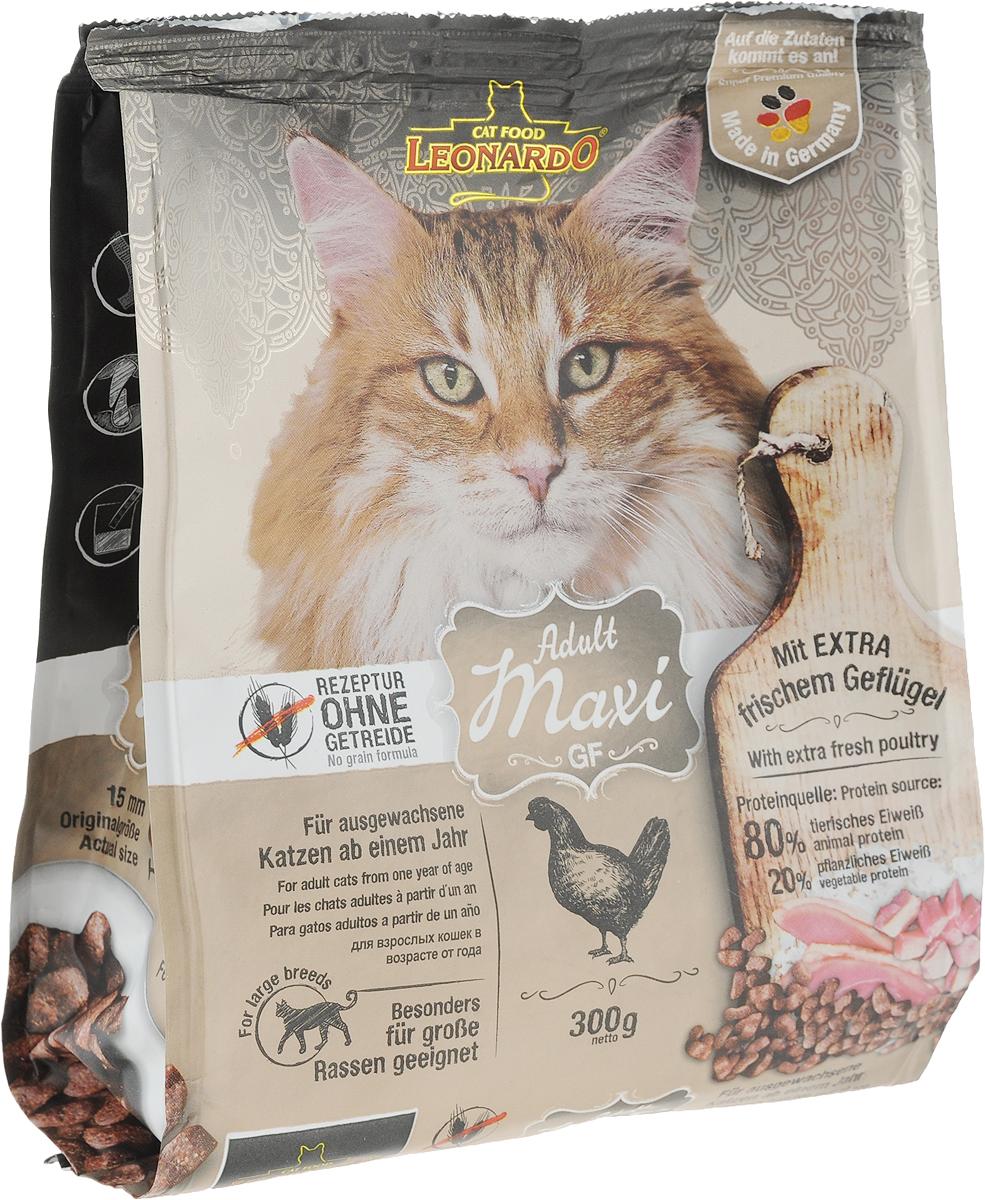Корм сухой Leonardo Adult, для взрослых кошек крупных пород, беззерновой, с птицей, 300 г63062Корм сухой Leonardo Adult - это полнорационное питание для кошек. Большие породы кошек, такие как Норвежская лесная кошка и Мейн Кун, имеют особые потребности в еде.Сверхбольшие крокеты (11 мм) заставляют кошек дольше жевать, что положительно сказывается на их зубах.Это стимулирует слюноотделение. Идеально подходит для животных с пищевой непереносимостью. Изготовлен без применения злаков. В состав входит амарант вместо зерновых культур.Особые ингредиенты:- Амарант - питательная альтернатива злакам, без содержания глютена. - Семена чии - поддерживают пищеварение при помощи природных слизистых веществ и содержат 20% жирных кислот Омега-3.- Морской зоопланктон (криль) - обогащен важными компонентами, такими как жирные кислоты Омега-3, астаксантин и натуральные энзимы.Преимущества:- Бережное выведение клубков шерсти из кишечника. - Удаление зубного налета с помощью добавки STAY-Clean. - PH контроль – оптимизирует PH мочи. - Источники белка: 80% животный белок, 20% растительный белок.Товар сертифицирован.