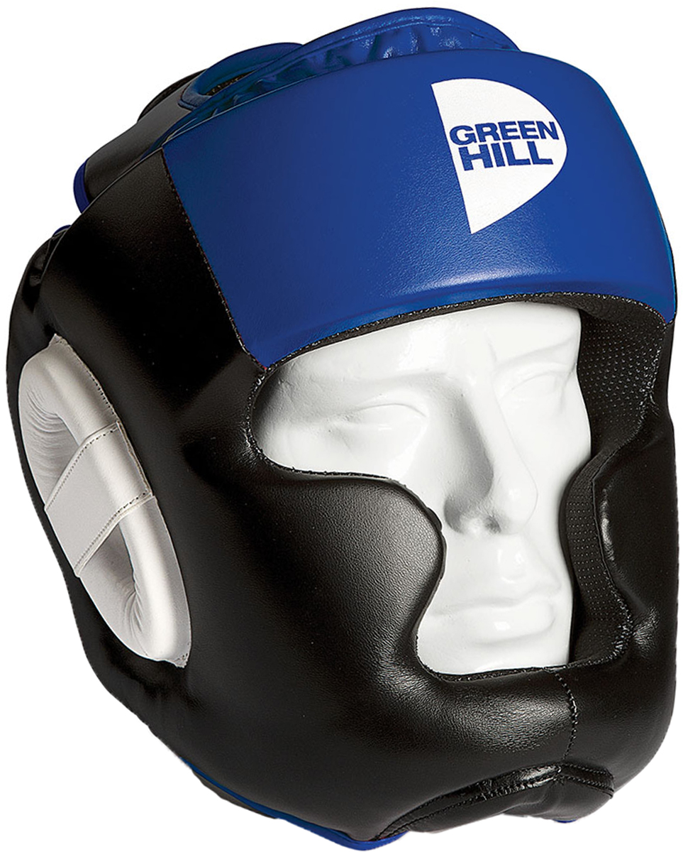 Шлем тренировочный Green Hill  Poise , цвет: черный, синий. HGP-9015. Размер S - Бокс