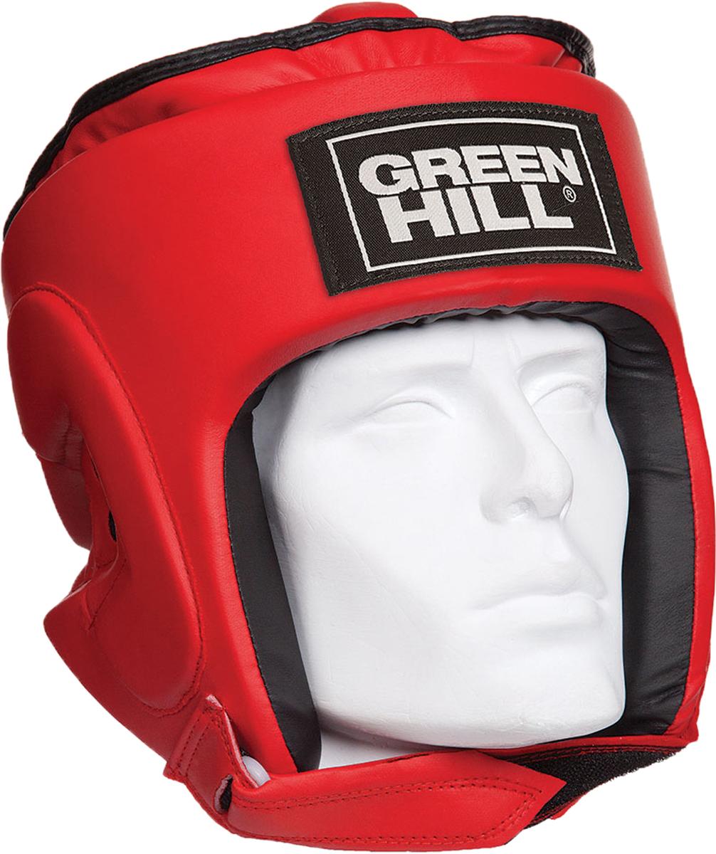 Шлем боксерский Green Hill Pro, цвет: красный. Размер S шлем боксерский adidas aiba цвет красный aibah1 размер xl 56 60 см