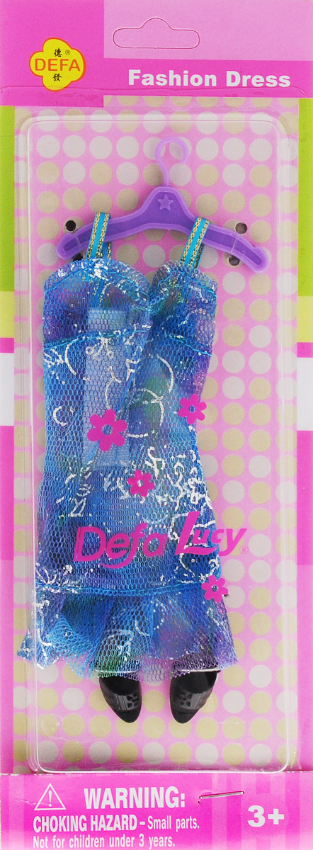 Defa Toys Вечерний наряд для куклы цвет голубой