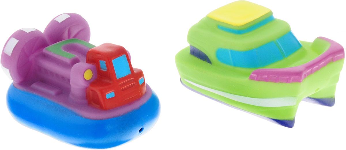ABtoys Игрушка для ванной Катер-брызгалка зеленый фиолетовый 2 шт игрушки для ванны hap p kid игрушка для купания брызгалка бобрик
