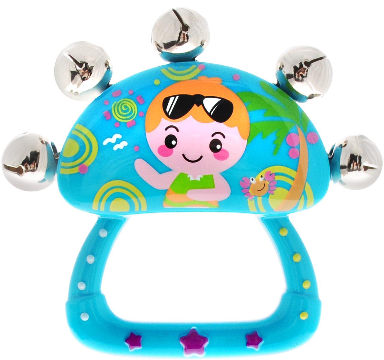 Huile Toys Погремушка цвет бирюзовый huile toys развивающая игрушка руль