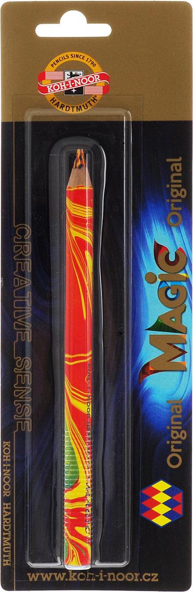 Карандаш цветной Koh-i-Noor Magic, многоцветный грифель, 10 мм3405/BLУникальный карандаш с многоцветным грифелем. При работе карандашом образуется единая многоцветная линия, сплетенная из нескольких линий разных цветов без вращения карандаша вокруг оси грифеля, создавая готовую растушеванную линию. Цвет линии меняется при изменении угла наклона карандаша. Карандаш можно использовать в различных техниках рисования: растушевке, заштриховке. При переходе от оттенка к оттенку создается эффект 3D. Благодаря уникальности карандаша даже начинающий художник может достичь профессионального результата. Карандаши легко затачиваются. Грифель устойчив к механическим повреждениям.