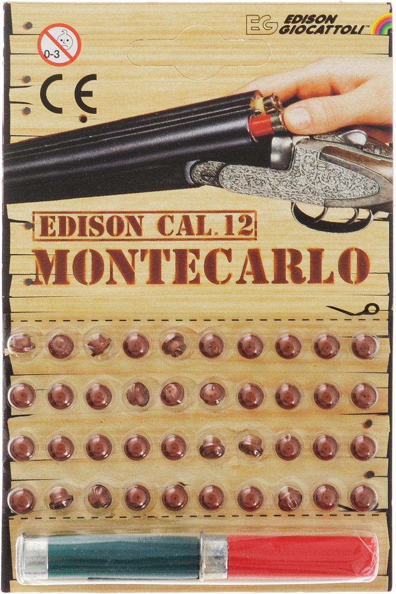 Edison Пистоны Montecarlo с двумя гильзами цвет зеленый красный 40 шт