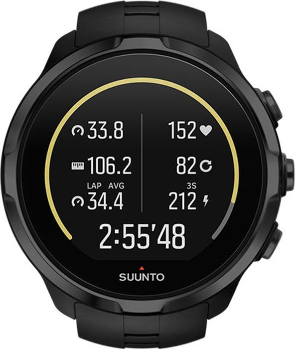 Часы спортивные Suunto Spartan Sport Wrist HR All Black, цвет: черный suunto bike sensor